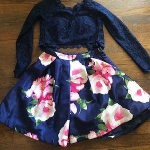 Two piece girls dress